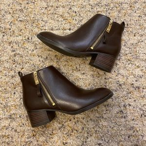 BROWN TOMMY HILFIGER BOOTIES